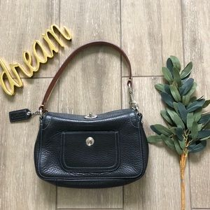 Coach Leather Mini Hobo Bag Turnlock Black